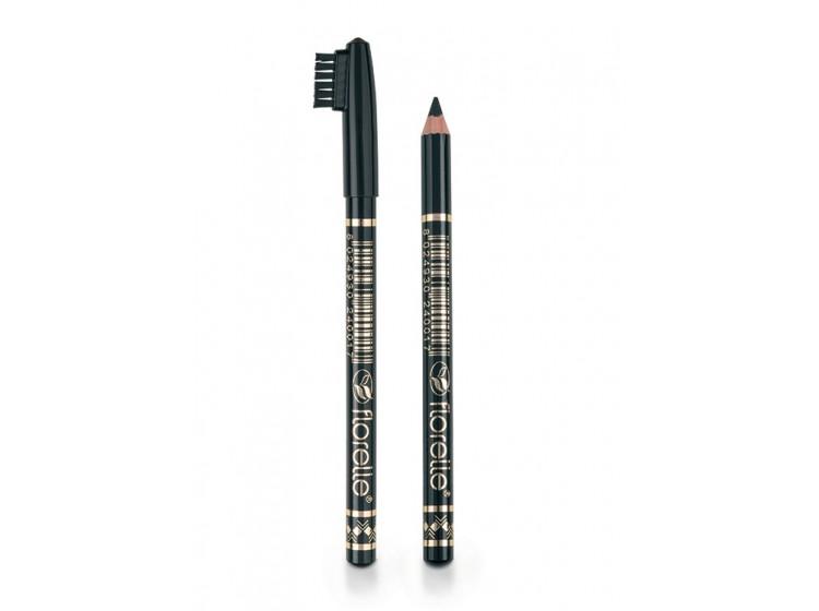 Čierna ceruzka na obočie s kefkou
