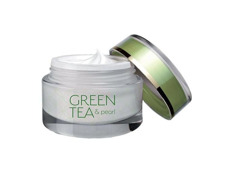 Green tea & pearl so zeleným čajom a pravými perlami 50 ml